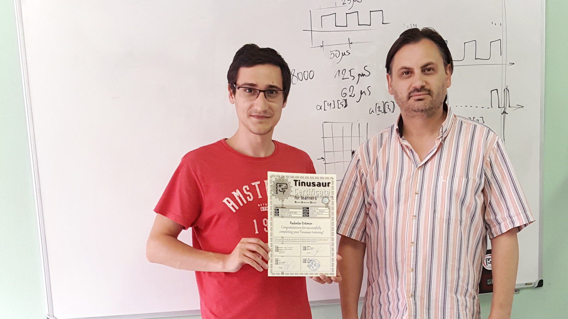 Радослав Евтимов Сертификат Тинузавър